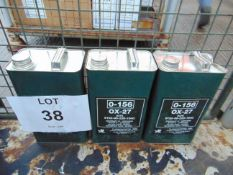 3 x Unissued 5L Cans of OX-27 Synthetic Gas Turbine Lubricating Oil