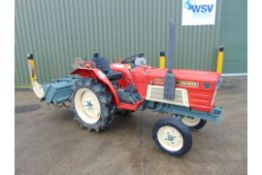 Yanmar YM1610 Compact Tractor c/w Rotovator ONLY 673 HOURS!