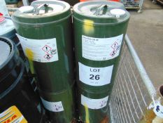4 x Unused 25L Drums of Ultra-Safe OX-40 High Quality luminescent green hydraulic fluid
