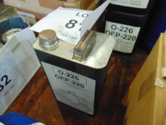 1 x Unissued 5L Can of OEP-220 Lubricating Gear Oil