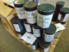 16 x Unused 3kg Drums of XG-380 High Operating Temperature Range Grease