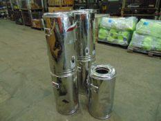 5 x MOD 25 Ltr Stainless Steel Tea Urns
