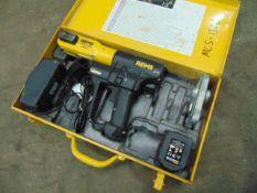 Rems 571014 Akku Press ACC c/w 1 x Battery, Charger, Steel Case etc
