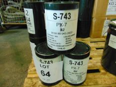 3 x Unused 3kg Drums of PX-7 Technical Grade Hard Wearing High Performance Grease