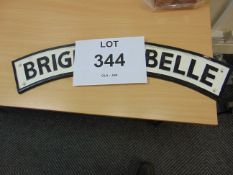 LARGE BRIGHTON BELLE CAST IRON RAILWAY SIGN 64 cm x 11 cm