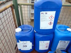 3 x Unissued 25L Drums of AL 36 Etylene Glycol Based Antifreeze