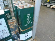 6 x Unissued 5L Cans of OM-15 Mineral Hydraulic Oil