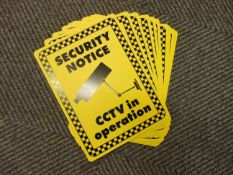 10 x Unissued CCTV in Operation Signs