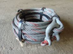 Unissued 20m 3 Ton Tirfor Winch Wire Rope Reel