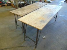 2 x 6 ft Standard Army Trestle Tables as shown