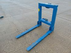 Tractor Forks & Hitch Attachment (Fold Up Forks C/w Hitch)
