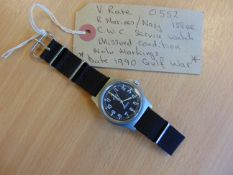 Very Rare Unissued 0552 Royal Marines Navy Issue CWC W10 Service Watch Nato Markings