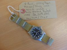 Very Rare 0552 Royal Marines Navy Issue CWC W10 Service Watch Nato Markings