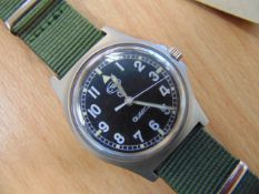 CWC W 10 SERVICE WATCH WATER RESISTANT NATO MARKED DATED 2005 - UNISSUED