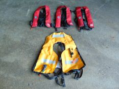 4 x Crewfit 150N Self Inflating Crewsaver Life Jackets