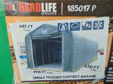 Heavy Duty Hardlife Building 18 ft Wide x 50 ft Long x 17 ft High P/No 185017P