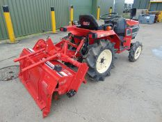 Yanmar F145 4x4 Cpmpact Tractor c/w Rotavator ONLY 625 HOURS!