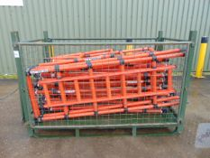 18 x Genex Lightweight Fiberglass Scaffold Tower Sections as shown