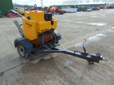 2012 Benford 1-71 HEY Single Drum Vibrating Walk Behind Pedestrian Roller C/W Trailer ONLY 32 HOURS!