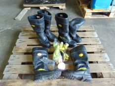 3 x Mixed Pairs of Jolly Firefighters, Bikers, Rigger Boots Waterproof and Gloves