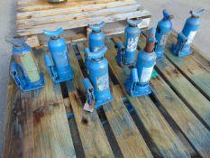 Q 8 x Weber 3 Tonne Hydraulic Jacks