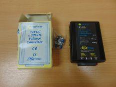 ALFATRONIX 24 VOLT TO 12 VOLT DC CONVERTER FOR USE IN HGV VEHICLES ETC.