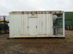 20 ft NEC Digital Transmitter Container Unit c/w Toshiba A/C Units Etc.