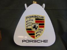PORSCHE 1 GALL PETROL/ OIL CAN WITH BRASS CAP - UNUSED