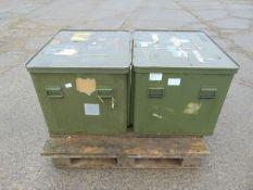 2 x Large Aluminium Storage Boxes