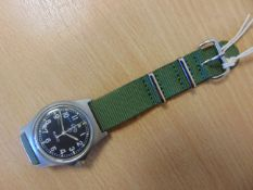 CMW W10 BRITISH ARMY SERVICE WATCH WATER RESISTENT TO 5 ATM NATO MARKINGS DATED 2005