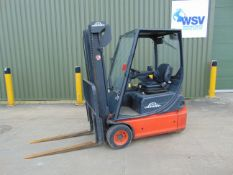 Linde E14-02 3 Wheel Counter Balance Electric Forklift ONLY 1,029 HOURS