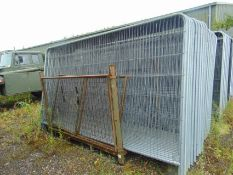 17 x New unissued Heras Style Fencing Panels 3.5m x 2m galvanized c/w with feet