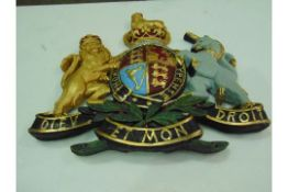 large LARGE ROYAL CREST WALL MOUNTED