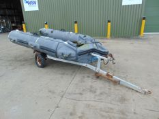 Inflatable10 ft Rib with galvanised launching trailer with accessories