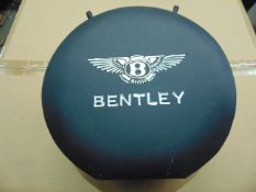 ROUND BENTLEY 1 GALL PETROL/ OIL CAN with BRASS CAP