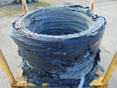 Unissued Pallet of Galvanised Razor Wire Approx 400m