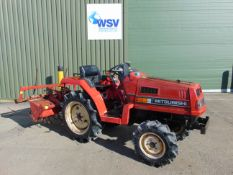 Misubishi F1 4x4 Cpmpact Tractor c/w Rotavator ONLY 849 HOURS!