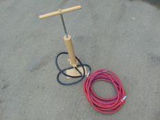 Unissued Clark Mast Pneumatic Hand Pump c/w Airline Assy