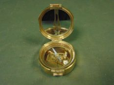 VERY NICE STANLEY BRASS PRISMATIC COMPASS REPRO