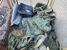 Stillage of Various Canvas Radio Bags etc