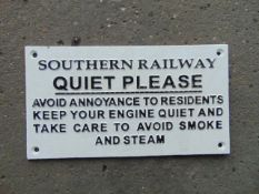 CAST IRON SOUTHERN RAILWAY SIGN
