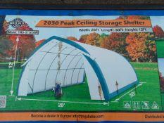 Heavy Duty Storage Shelter 20'W x 30'L x 12' H P/No 203012PST