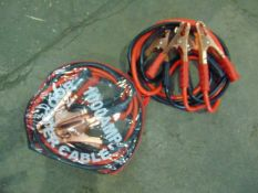2 x UNISSUED Heavy Duty 100AMP Booster Jump Start Cable Sets.
