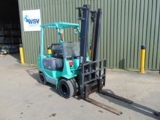 Mitsubishi FD15 Counter Balance Diesel Forklift ONLY 2,116 HOURS! C/W Hydraulic Full Tip Carriage