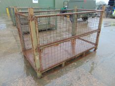 You are bidding for Heavy Duty Metal Stackable Stillage / Post Pallet. Dimensions L 2.2 x W 1.2 x