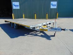 Very High Specification Bateson Twin Axle Flatbed 3.5 Tonne Transporter Trailer with Ramps