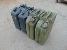 2x NATO Issue 20L Jerry Cans & 2x NATO 5 gall Water Jerry Cans