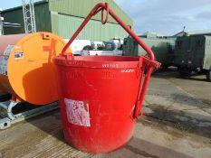 1500ltr Concrete Hopper, Tipping Bucket, Skip, lifting bin, forklift, crane