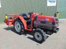 Mitsubishi MT23 4x4 Compact Tractor c/w Rotavator ONLY 1,383 HOURS!