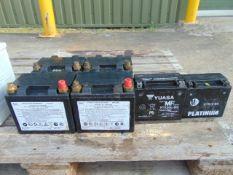 6 x Mixed 12v Batteries
